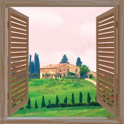 "Canvas Trompe (tela) ""Finestrella in Toscana"""